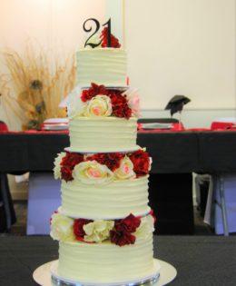Four tier 21st Cake $695
