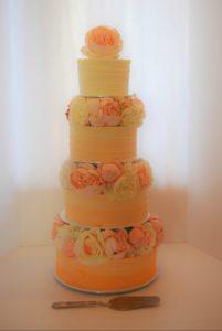 ombre 4 tier cake
