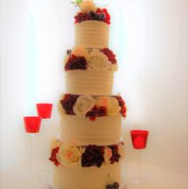 Red and White 4 tier $695