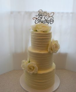 White Wedding Cake $595