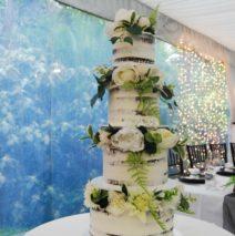 4 Tier Semi-Naked Wedding Cake $695